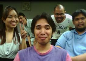 Team Eat and Run: Aileen (Artist), Dino (Designer), Mop (Designer), Me (Programmer), Gats (Programmer), Kane (Sounds - unfortunately he's not in this puicture XD)