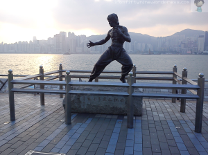 Bruce Lee Statue in Avenue of the Stars